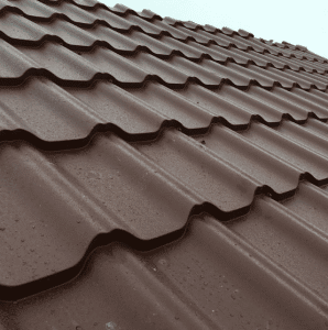 wet metal roof