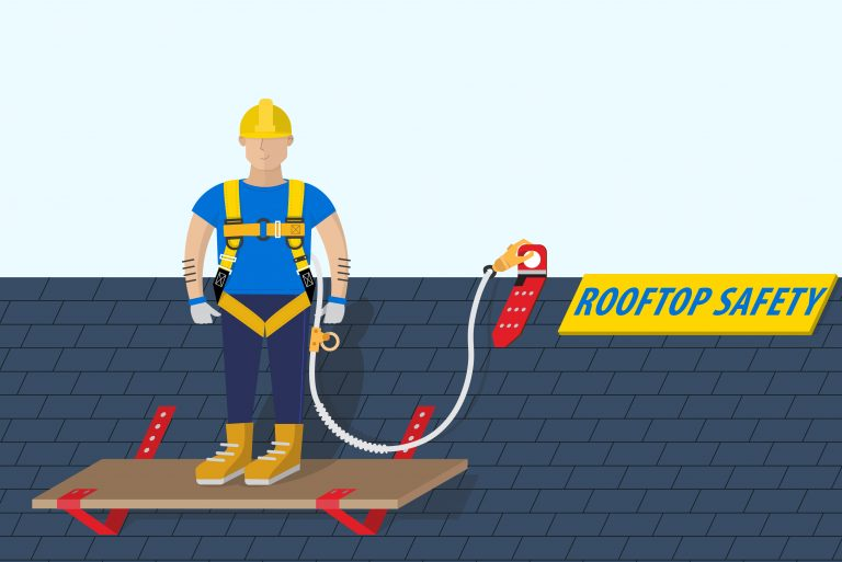 secure yourself on roof